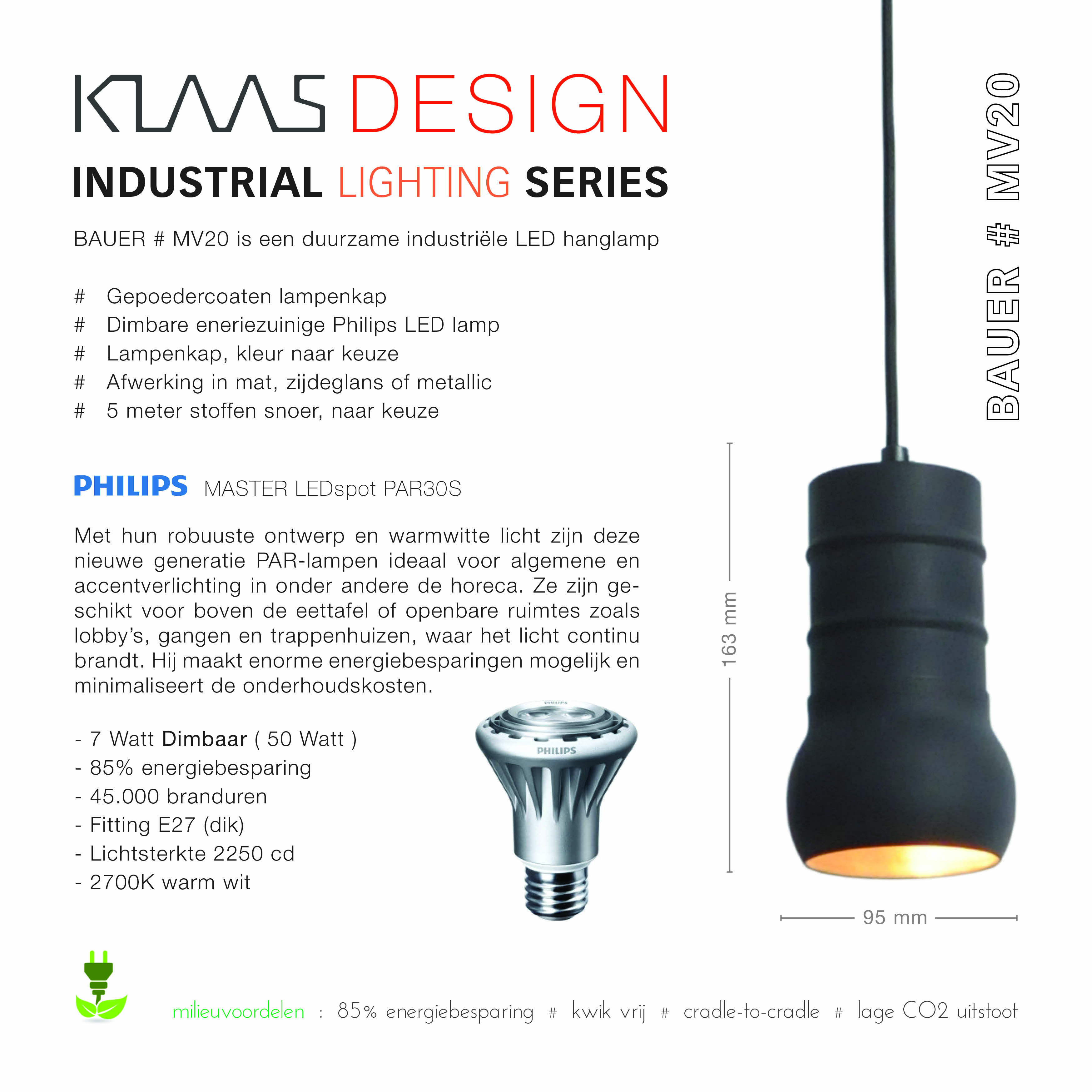 Klaas Design - Bauer MV20 - lighting series