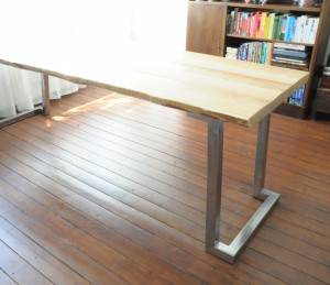 Klaas Design - Table Big Wood Planks + Steel Design Frame2