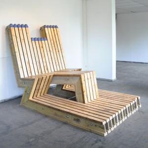Klaas Design - Lounge Bench - DOKA IPE CS