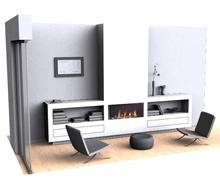 3D gasfire Cabinet Concept